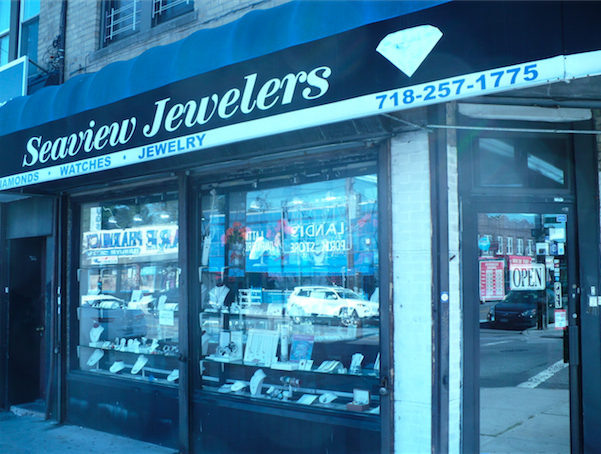 Storefront of Seaview Jewelers in Brooklyn, New York